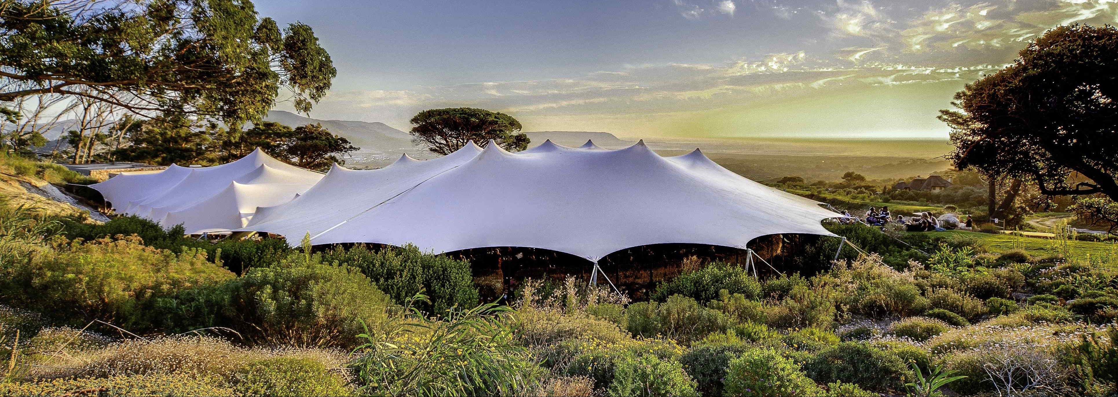 Large custom designed stretch tent set up. FlexiTenz - Stretch Tent Hire